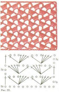 Crochet Stitch Pattern: Hook, Crochet Points, Crochet Chart, Crochetstitches, Tissue, Lacy Crochet Stitches, Crochet Patterns, Crochet Stitches Free, Stitch Patterns