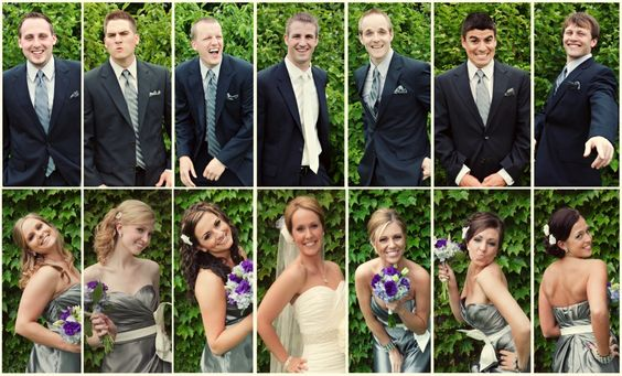 To show each personality in the wedding party-- tell them to pose in their own way!=LOVE