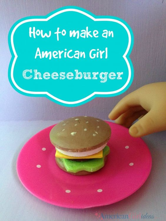 This American Girl Food Cheeseburger was a lot of fun to make. My girls loved helping! I love how this turned out.