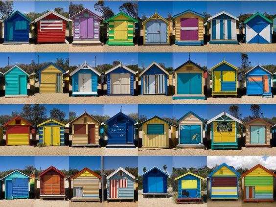 Cabanas on Brighton Beach, Melbourne, Australia