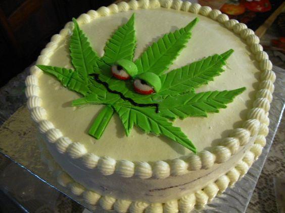 How To Make A Weed Leaf Cake