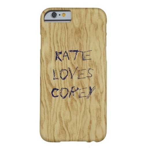 Plywood Love Graffiti, Modern Wood Inspiration Barely There iPhone 6 Case. By Constance McGuire.com.