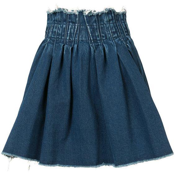 Maison Mihara Yasuhiro elasticated waist denim skirt featuring ...