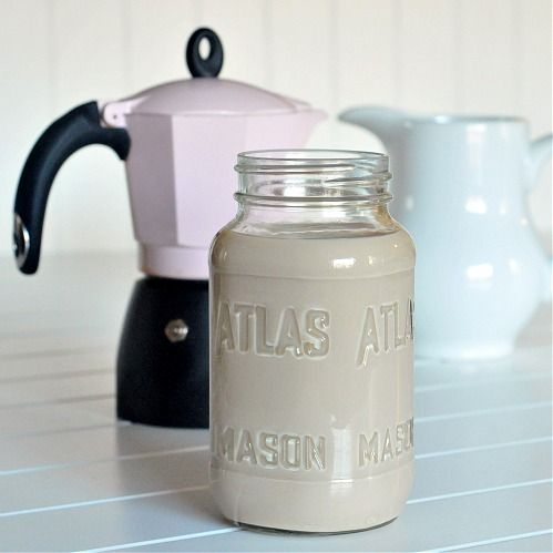 vegan Baileys Irish cream  1 tablespoon cocoa  2 shots espresso  1 can coconut milk  1/2 cup creamer  1 teaspoon almond extract  1 tablespoon vanilla  3/4 – 1 cup whiskey  Combine cocoa with hot espresso/coffee, stir until dissolved. Add this and all other ingredients to blender, blend on high. Store in airtight container in refrigerator.