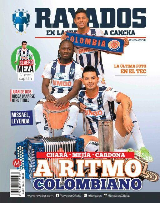 Portada de la revista de @Rayados con foto de sesión que realice a los Colombianos @yimmichara Mejía y Cardona