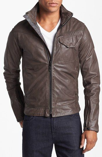 G-Star Raw 'JSF' Leather Jacket | Nordstrom $580