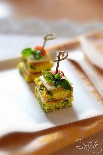 Finger food canape pinterest cucina raffinata for Canape quiche recipe