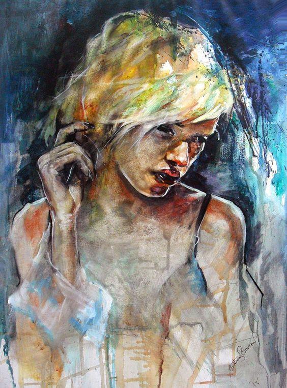 "Saatchi Art Artist: Anthony Barrow; Acrylic 2013 Painting ""The Model"""