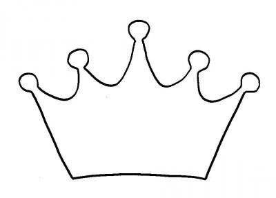 Ausmalbild Krone
