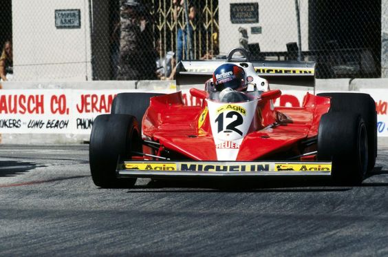 Gilles Villeneuve (Scuderia Ferrari), Ferrari 312T3 - Ferrari Tipo 015 3.0 Flat-12, 1978 United States Grand Prix West, Long Beach (California)