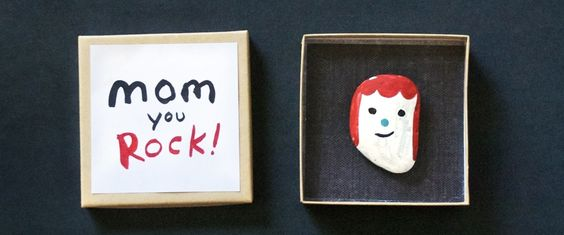 Laughing so hard at this cute painted rock gift for Mother's Day. Even our kids could do this!