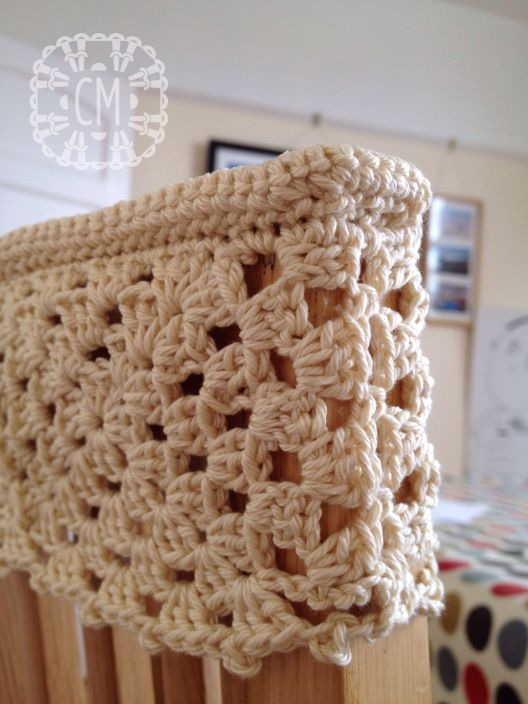 Top Ridge Around Chair Back Cover Chair Back Covers Crochet Patterns Crochet Home
