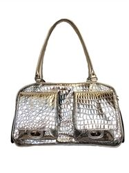Marlee - Silver Gator - Carriers - Luxury Carriers Posh Puppy Boutique