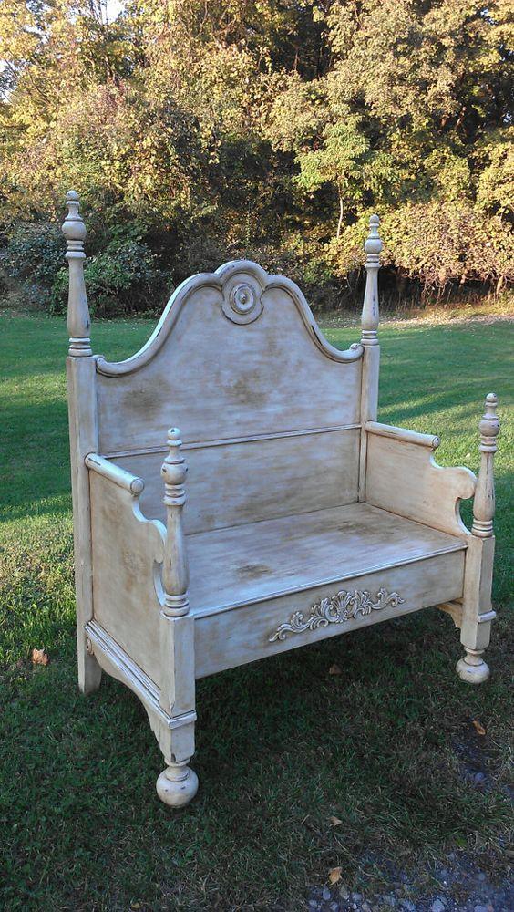 Painted Benches Benches And Bed Bench On Pinterest