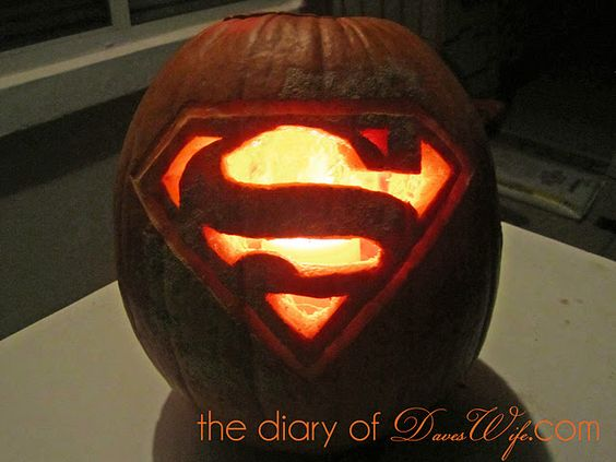 Superman Pumpkin Pumpkincarving The Diary Of Daveswife