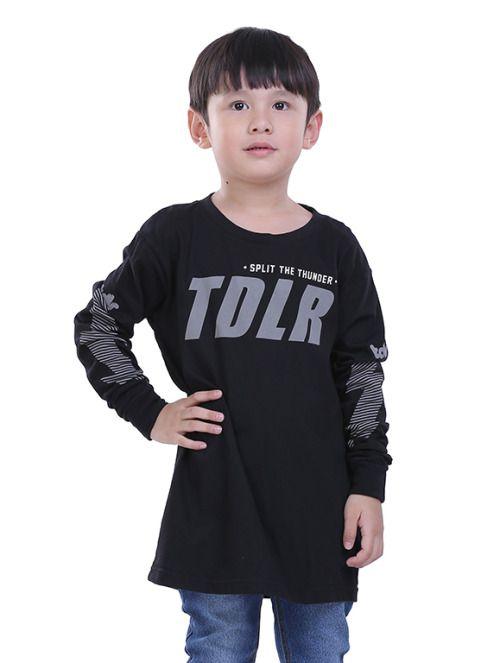 Kaos Anak Laki Laki T 0330 Cotton Combed Hitam 10 8 Rp Anak