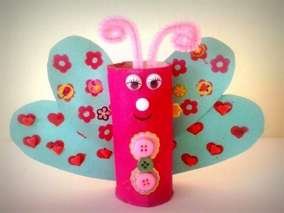 realiser un papillon avec rouleau papier toilette activit s printemps pinterest papier. Black Bedroom Furniture Sets. Home Design Ideas