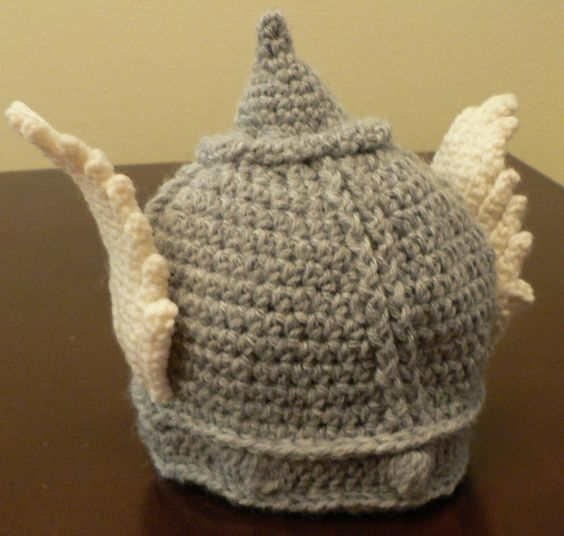 Crocheted Thor Hat Helmet