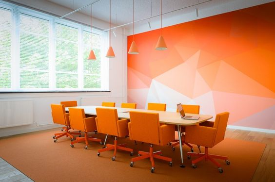 Color and Pattern on the accent wall.... hmmmm 9 Patterns, Shapes, and Geometric Designs to Liven Up Any Wall | Turnstone