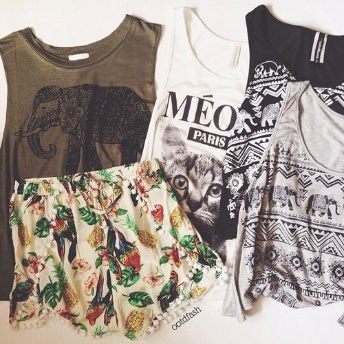 Graphic tees.