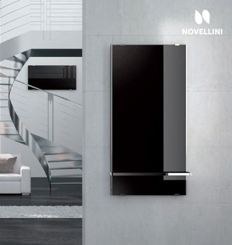 Black Beauty Novellini Sole Elektrische Designradiator In Zwart