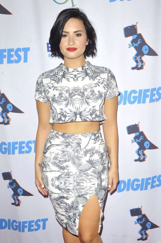 Demi Lovato on the red carpet at #DigiFestNYC - June 6th
