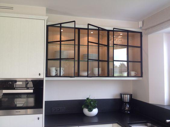 Black Steel Glass Cabinet Doors Jessica Devlin Design Glass Cabinet Doors Glass Kitchen Cabinets Kitchen Design
