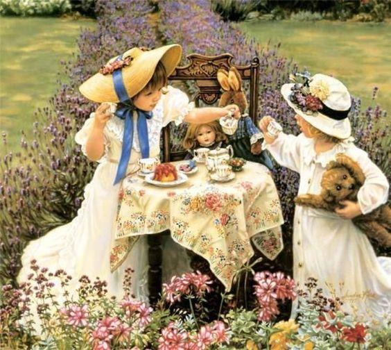 Tea Party by Sandra Kuck