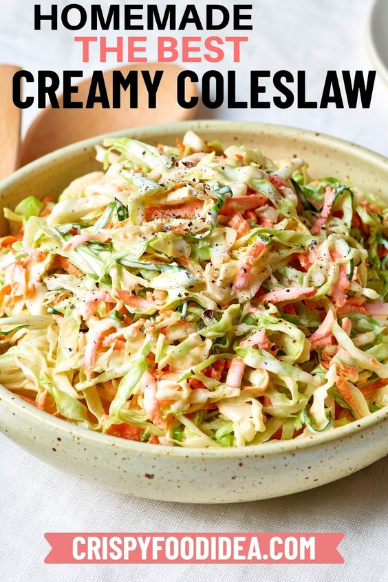 Greek Yogurt Coleslaw - 4th of July recipes