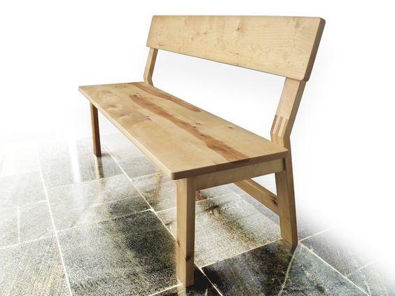 Bank mit Lehne von Holz-Studio auf DaWanda.com
