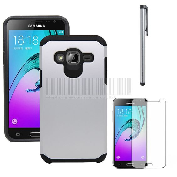 Samsung Galaxy Cricket Amp Prime 2in1 Hybird Impact Armor Case Hard Shockproof Hard Cover With Films+Stylus