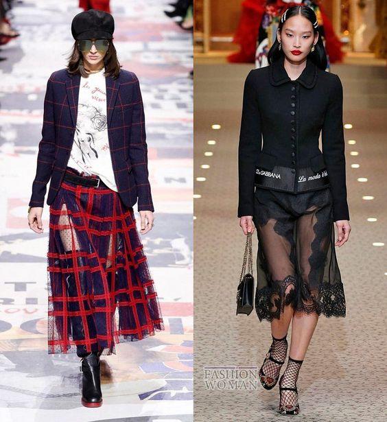 Модные юбки осень-зима 2018-2019: прозрачные