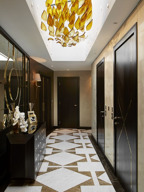 Top Luxury Interior Designers London: Entrance Hall, Penthouse, St John's Wood