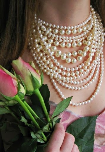 "Pearls are the ultimate femine accesory! In the words of Jackie O ""Pearls Are Always Appropriate!"" #Classic #ILovePearls! :)"