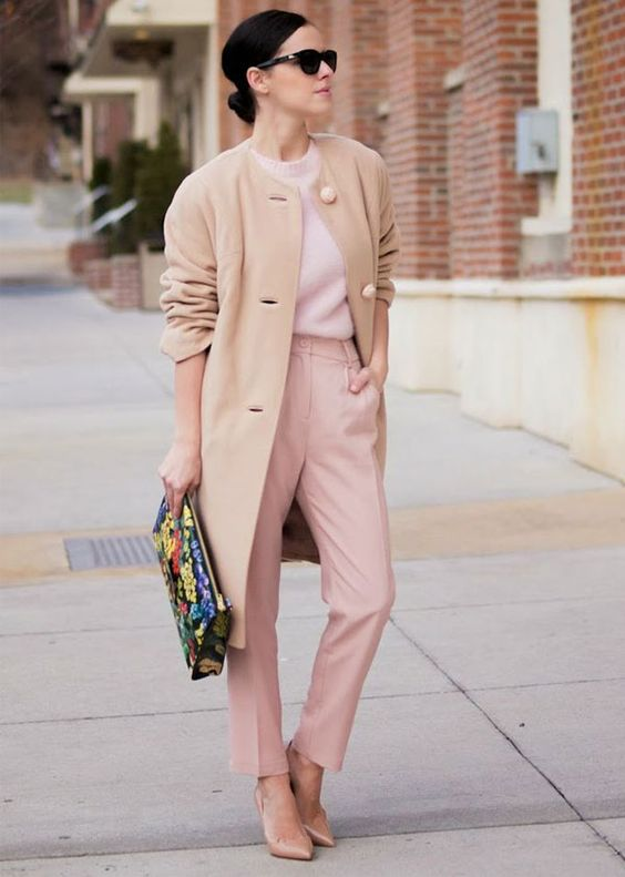 all beige street style: