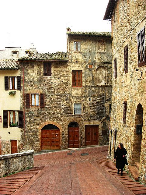 San Gimignano -it was like a maze but the views were amazingly beautiful