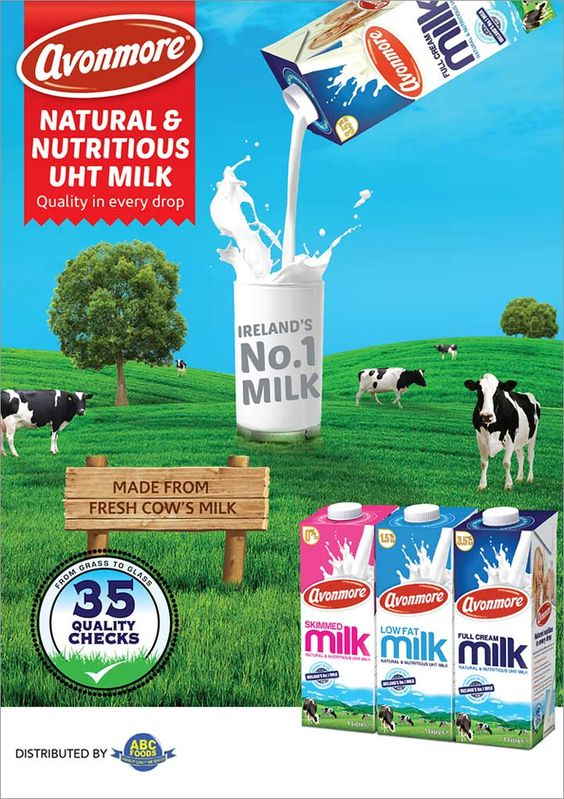 ABC Foods - Avonmore: Natural and Nutritious UHT milk. Tel: 406 2100