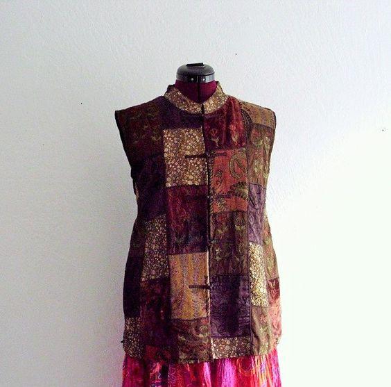 Bohemian Velvet Vest. Plus Size by KheGreen on Etsy