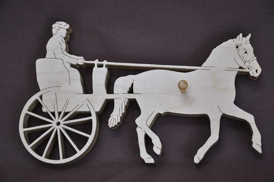 Driving Cart Pony or Horse Show Ribbon Display Wood Wall Hanging