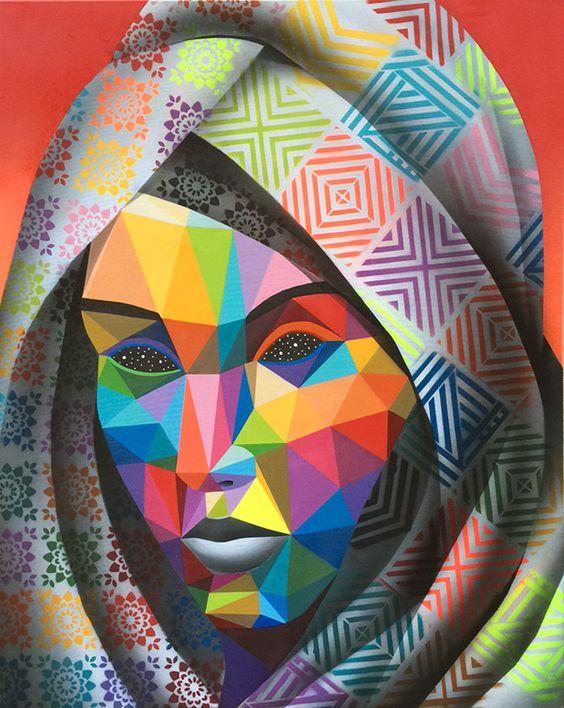 geometric work of multidisciplinary artist Okuda San Miguel.