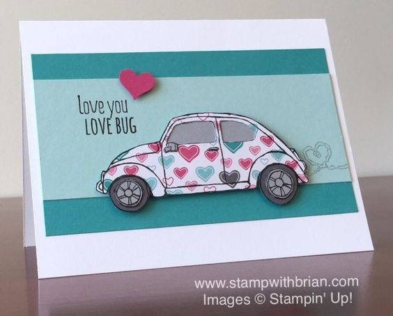 Beautiful Ride, Have a Cuppa Designer Series Paper Stack, Stampin' Up!, Brian King, Valentine's Day Card: