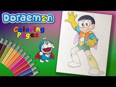 Nobi Nobita Superhero Doraemon Coloring Forkids Doraemon Character Coloring Page Yout My Little Pony Characters Favorite Cartoon Character Doraemon Cartoon