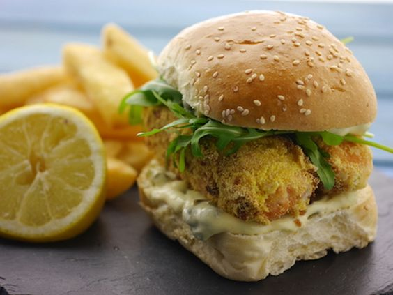 Salmon Fish Finger Butty Recipe