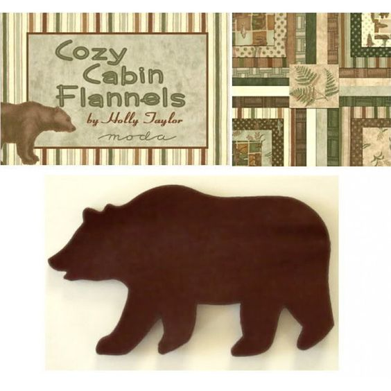 Cozy Cabin Bears Applique Set | Jelly Rolls 2 Go