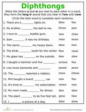 Printables 4th Grade Phonics Worksheets grade phonics worksheets davezan 4th davezan