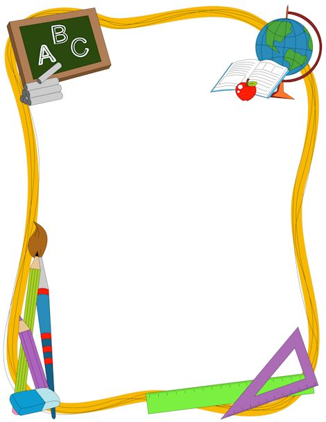 back to school bulletin board writing paper template – Border Paper Template