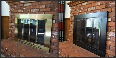 painting brass fireplace
