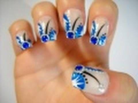 Nail Tutorial - China Glaze Logo Inspired - YouTube