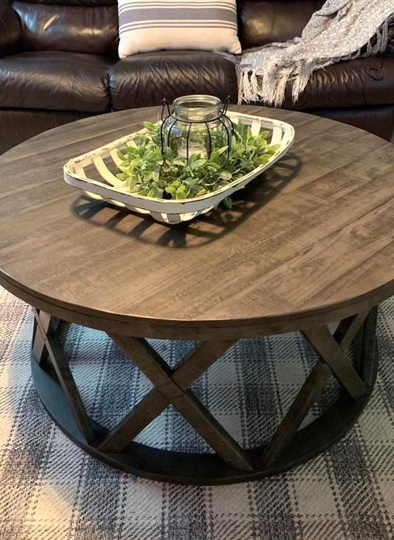 Sharzane Coffee Table Ashley Furniture Homestore In 2020 Round Coffee Table Living Room Coffee Table Farmhouse Coffee Table