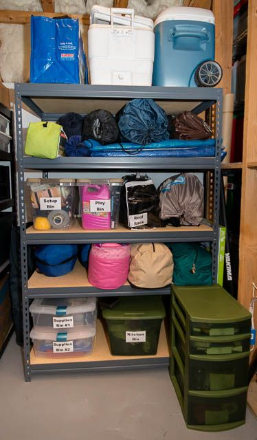How to store camping gear